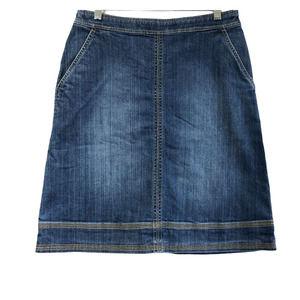 Boden | Modest Denim Skirt Pockets 6 R
